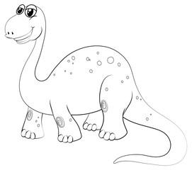 Animal outline for brachiosaurus