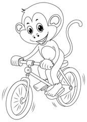 Drafting animal for monkey riding bike