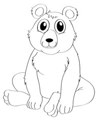 Animal outline for bear sitting