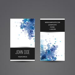 Business Card with Blue Abstract Pattern