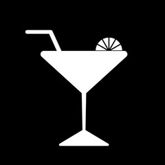 vector glass of cocktail icon