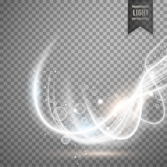 abstract transparent white light effect vector background