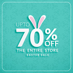 discount banners for happy easter celebration