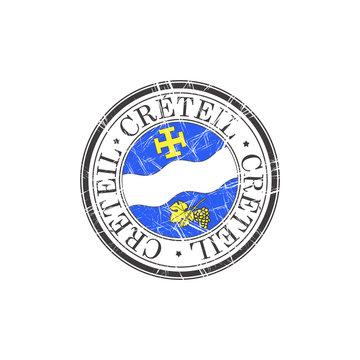 Creteil city stamp
