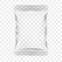 Transparent Packaging For Snacks, Chips, Sugar, Spices, Or Other Food