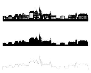 Fototapeta Aachen Skylines