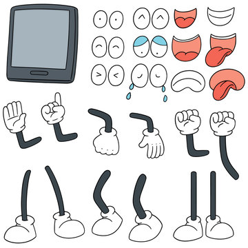 vector set of smartphone cartoon