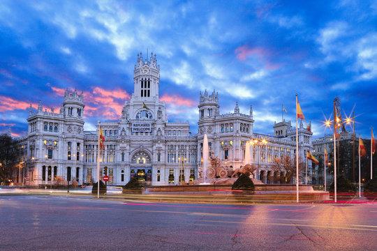 Madrid Plaza de Cibeles Amanecer