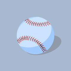 Baseball on blue background
