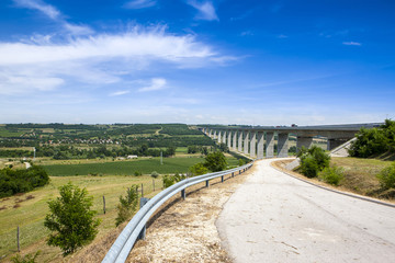 Beautiful rural landscape and bridge, Catalonia, Spain