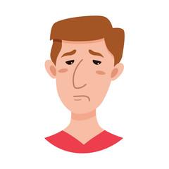 Male emoji cartoon character.