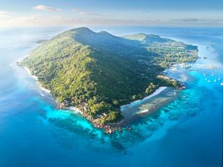 Insel im Ozean, La Digue - Seychellen