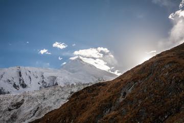 View at Manaslu peak in Nepal