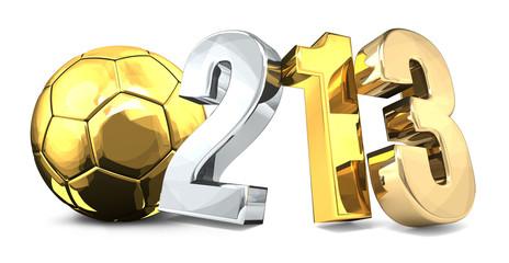 123 final soccer football ball 3d rendering