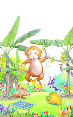 monkey in the garden