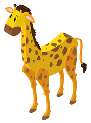 Giraffe in 3D design