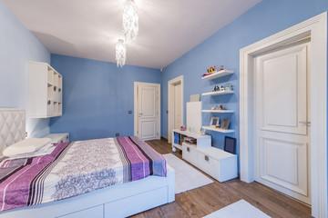 Modern teenage bedroom interior