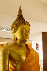 Gold buddha statue at Wat Yai  Phitsanulok, Thailand.