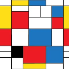 Seamless pattern. Colorful background in mondrian style. Vector illustration. Abstract background of colored rectangles.