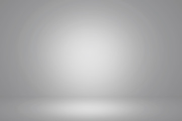Fototapete - abstract grey background ,clean studio and room - can be used for display or montage your products
