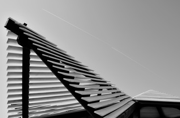 Architectural detail of a modern roof