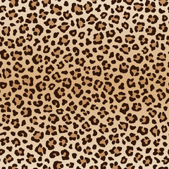 Seamless animal leopard pattern, vector