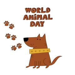 World animal day vector illustration