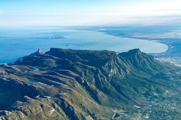 View of Capetown from an Airplane