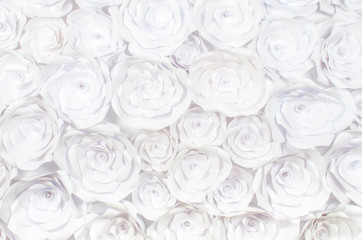 wall with a background of paper flowers handmade craft creative abstraction
