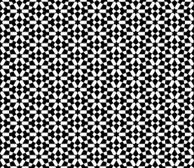 Abstract seamless decorative black & white oriental pattern
