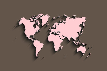 flat world map. abstract vector background for wallpaper, banner