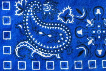 Blue Bandana Design Closeup