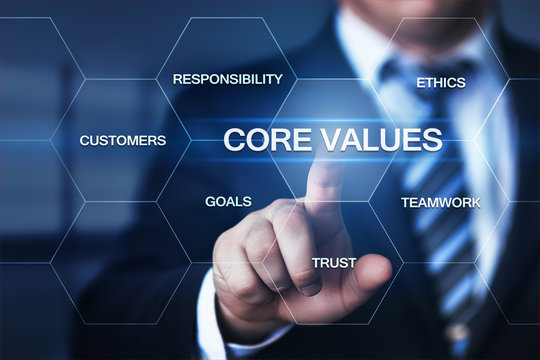 Core Values Responsibility Ethics Goals Company concept