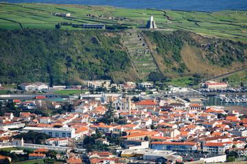 Praia da Vitoria from Serra do Cume