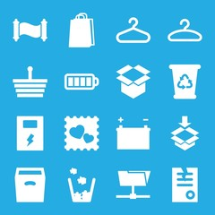 Set of 16 empty filled icons