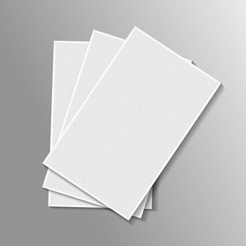 Vector realistic isolated pile of paper on the gray background. Realistic white mock up template for covering design, branding, corporate business identity and advertising.