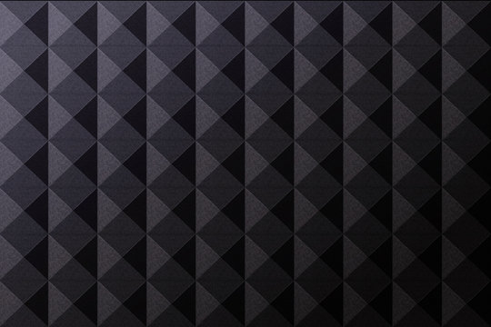 Vector realistic soundproof wall seamless pattern. Concept of soundproof acoustic equipment and music studio.