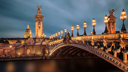 Poster Pont Alexandre III bridge in Paris