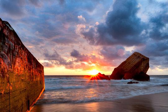 Capbreton, coucher de soleil
