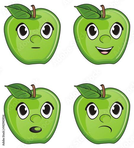 """Apple, flesh, bones, cartoon, fruit, summer, tree ..."
