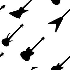 guitar seamless pattern