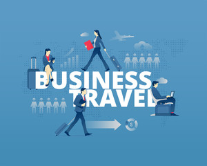 Business travel typographic poster