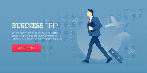 Business trip web banner