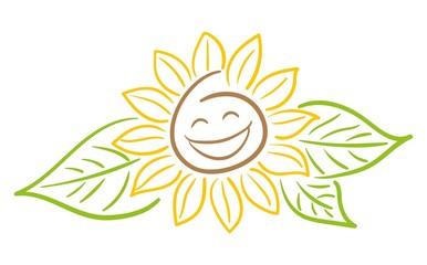 Sonnenblume Smiley