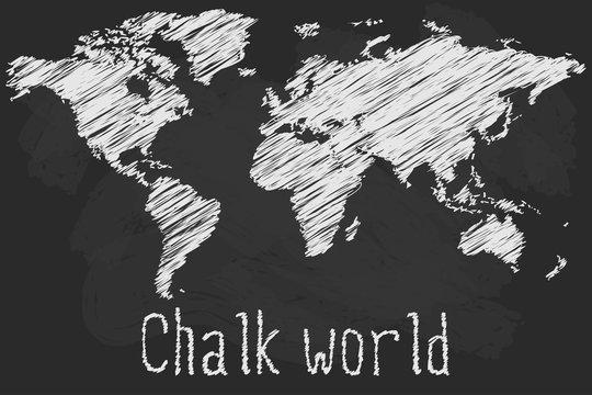 Chalk world map