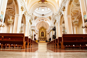 Inside of Cathedral of Chieti (Italy)