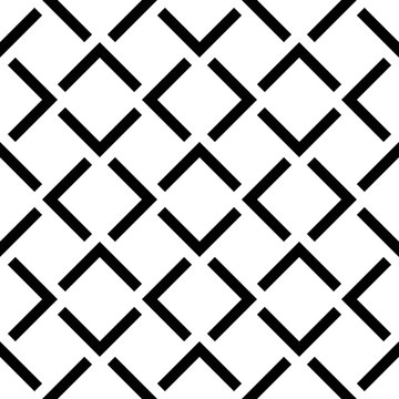 Vector seamless pattern. Modern stylish texture. Monochrome geometrical pattern with square tiles.