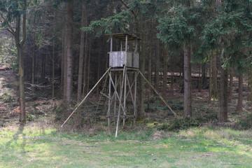 Hochsitz für die Jagd aan einer Waldlichtung