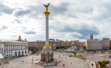 Independence Square - Maidan Nezalezhnosti in Kiev, Ukraine.