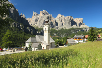 Alpine church in the Dolomites, South Tyrol